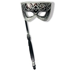 Venetian Mask w/Stick Silver Accents