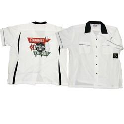 Classic (Black/White) Bowler Shirt Adult - Paradise Lanes Costume