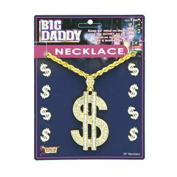 Big Dollar Sign Necklace