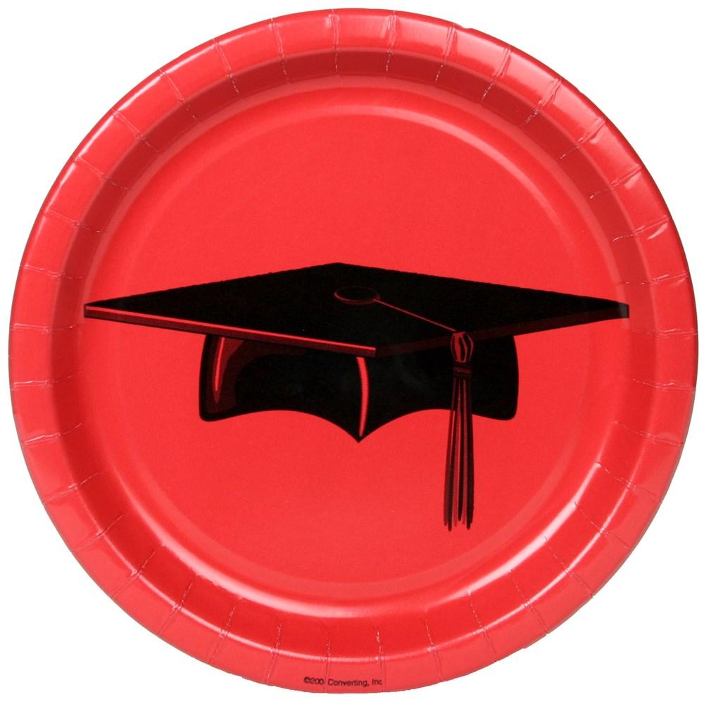 Congratulations Graduate Red Dessert Plates (25 count)