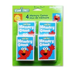 Sesame Street Memory Game (4 count)