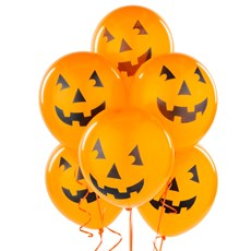 "Printed 12"" Pumpkin Balloons (6 count)"
