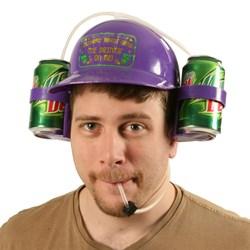 Mardi Gras Drinking Helmet Adult