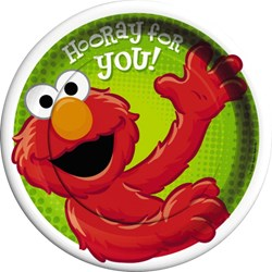 Hooray For Elmo Dinner Plates (8 count)