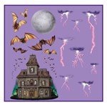 Haunted House & Night Sky Props Wall Add-On