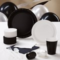 Black and White Deluxe Party Kit