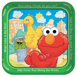 Sesame Street Sunny Days Square Dinner Plates (8 count)