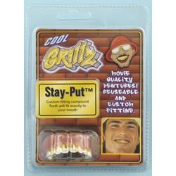 Grillz Gold Teeth With Diamond Tip