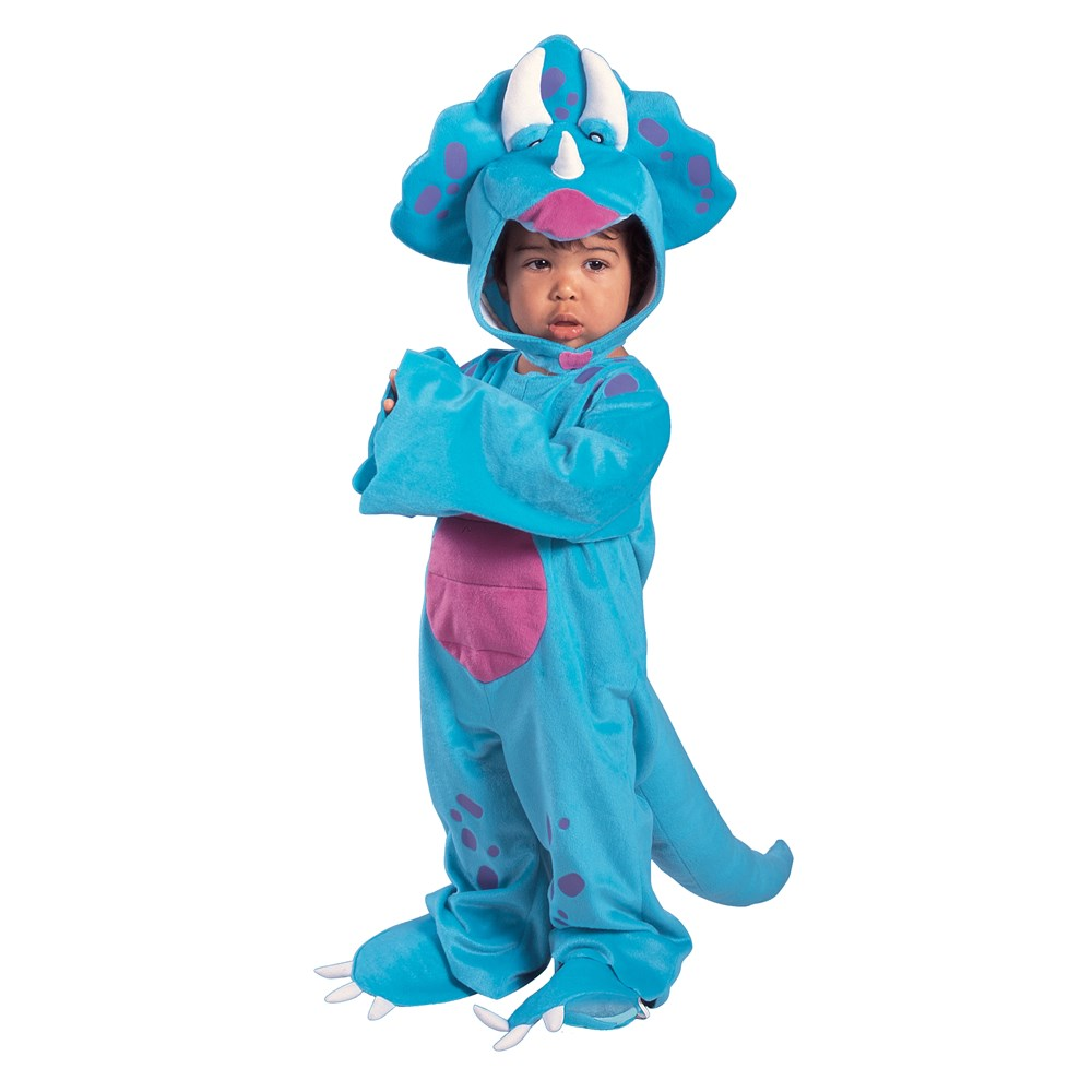 Lil Dino Triceratops Cutie - Blue Toddler Costume