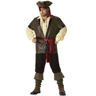 Rustic Pirate Elite Collection Adult Plus Costume