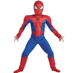 The Spectacular Spider-Man Animated Series Spider-Man Muscle Chest Child Costume
