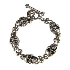 Silver Skull Toggle Bracelet