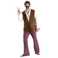 Striped Bell Bottom Pants Adult Costume