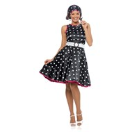 Hot '50s Adult Costume - Black