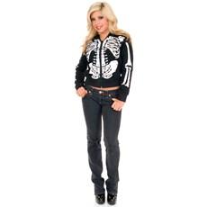 Skeleton Hoodie (Female) Teen Costume