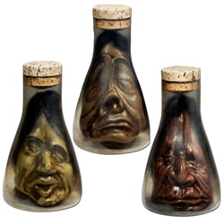 Shrunken Head in Flask Asst. (1 count)
