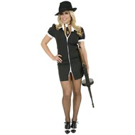 Gangster Moll (Black/White) Adult Costume