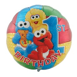 Sesame Street 1st Birthday 18″ Foil Balloon