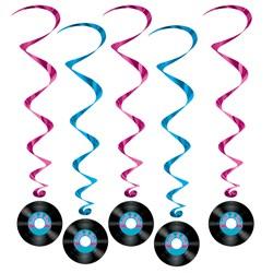 Rock 'N Roll Record Swirls (5 count)