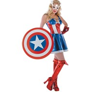 Captain America Sassy Prestige Adult Costume