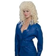 80's Wild Curl Blonde Wig Adult