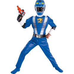 Power Ranger RPM Blue Ranger Classic Muscle Child Costume