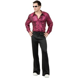Disco Shirt – Liquid Red & Black Adult Costume