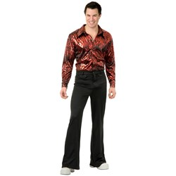 Disco Shirt – Flame Hologram Adult Costume