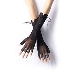 Fishnet Long Fingerless Adult Gloves