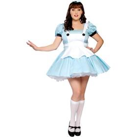 Miss Alice Adult Plus Costume