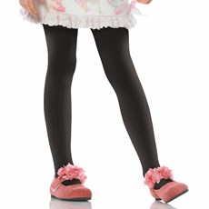 Black Opaque Tights Child