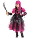 Hot Pink Caribbean Pirate Child Costume