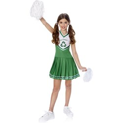 Go Green Cheerleader Child Costume