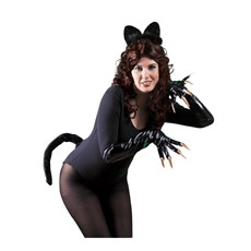 Black Cat Ears and Tail