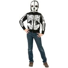 Girls Skeleton Sweatshirt Hoodie Costume
