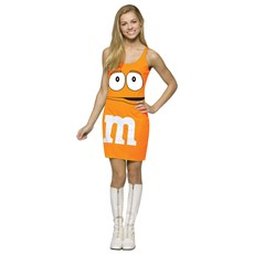 M&M Orange Tank Dress Teen Costume