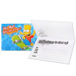 Simpsons Invitations (8 count)