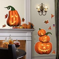 Friendly Pumpkin Halloween Giant Wall Decals