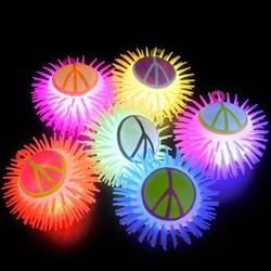 Light Up Peace Sign Puffer Yo-Yo Asst. (1 count)