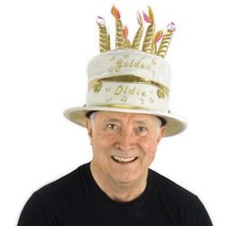 Golden Oldie Birthday Cake Hat
