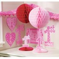 Girl's 1st Birthday Pink Decorating Set