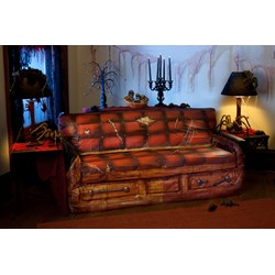 Spooky Scenes Coffin Couch Cover