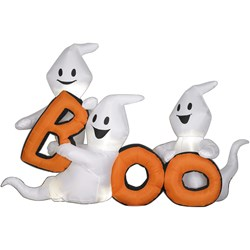Airblown Trio of Ghosts with BOO Scene