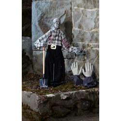 Zombie Grave Digger Graveyard Prop