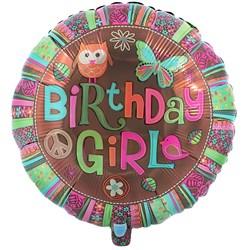 Hippie Chick 18″ Foil Birthday Balloon