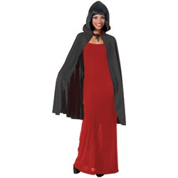 Cape with Collar (Black) Adult