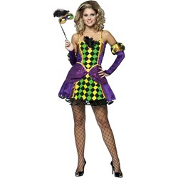 Mardi Gras Queen Adult Costume