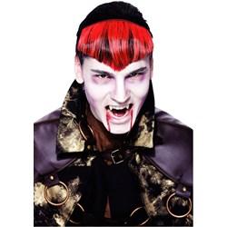 Gothic Widows Peak Red Hairpiece Adult
