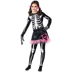 Skel-A-Girl Punk Skeleton Teen Costume