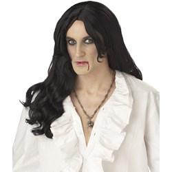 Old World Vampire (Black) Adult Wig